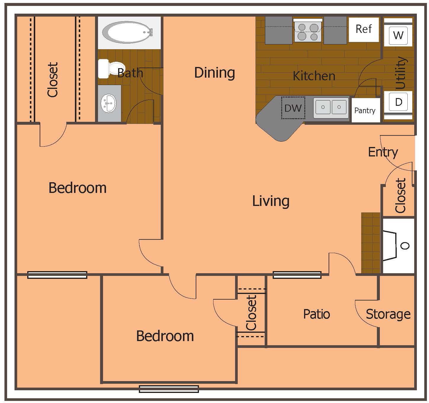 2 Bed 1 BathApartment In West Plano TX   Greenbriar Apartments. 1 Bedroom Apartments Plano Tx. Home Design Ideas